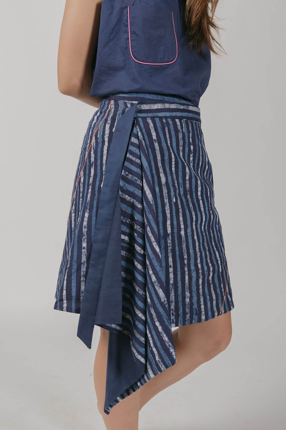 This is a Reversible Wrapped Skirt by Kilomet 109 - Phieu Collection 2017