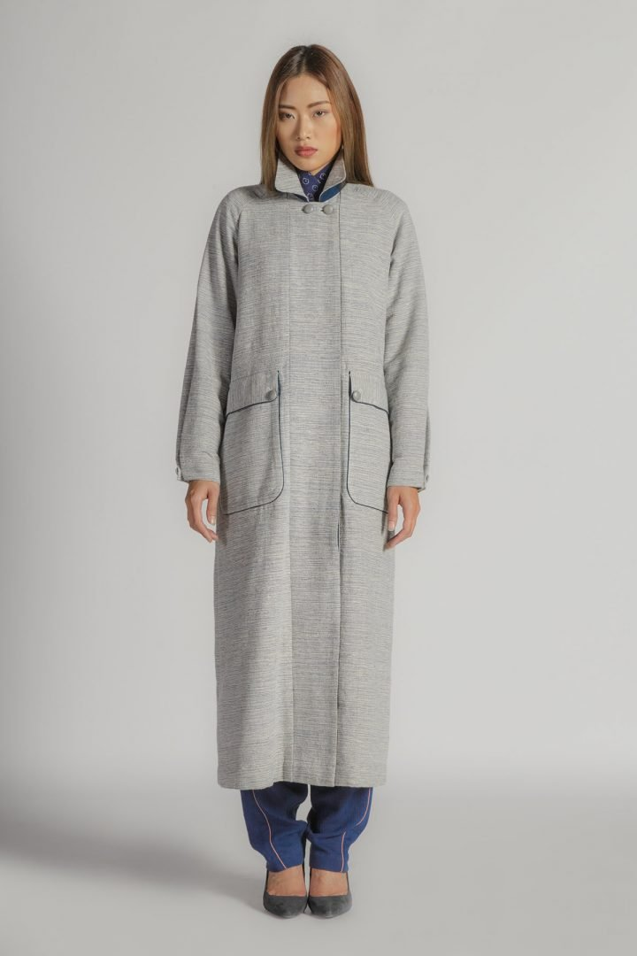 This is a Long Coat by Kilomet 109 - Phieu Collection 2017