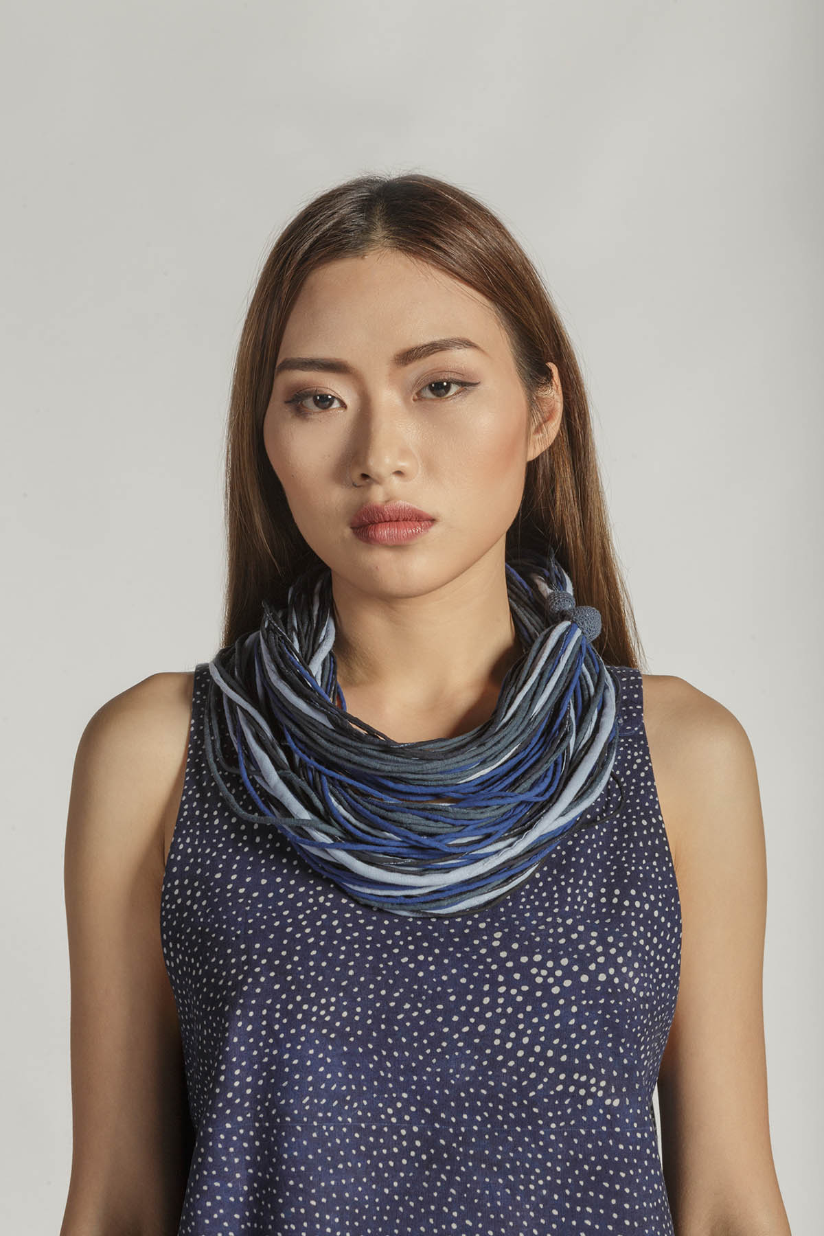 This is a Twist necklace by Kilomet 109 - Phieu Collection 2017