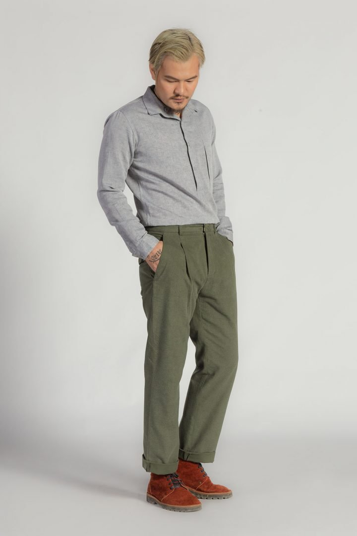 This is a Single Pleat Trousers by Kilomet 109 - Phieu Collection 2017