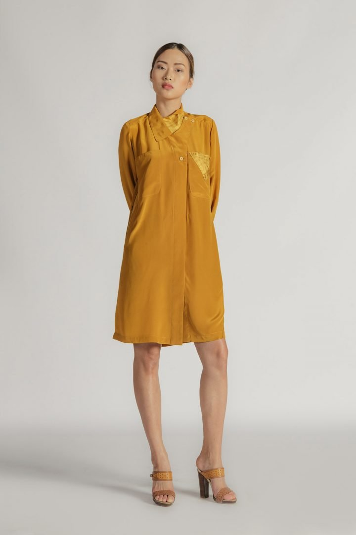 This is a Shirt Dress by Kilomet 109 - Phieu Collection 2017